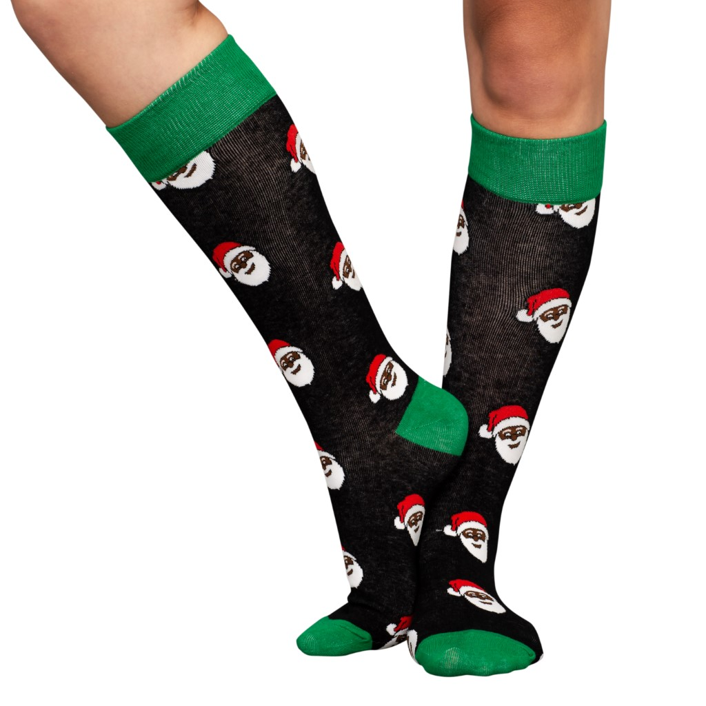 Black Santa Ugly Christmas Socks – Adult,Ugly Christmas Sweaters | Funny Xmas Sweaters for Men and Women