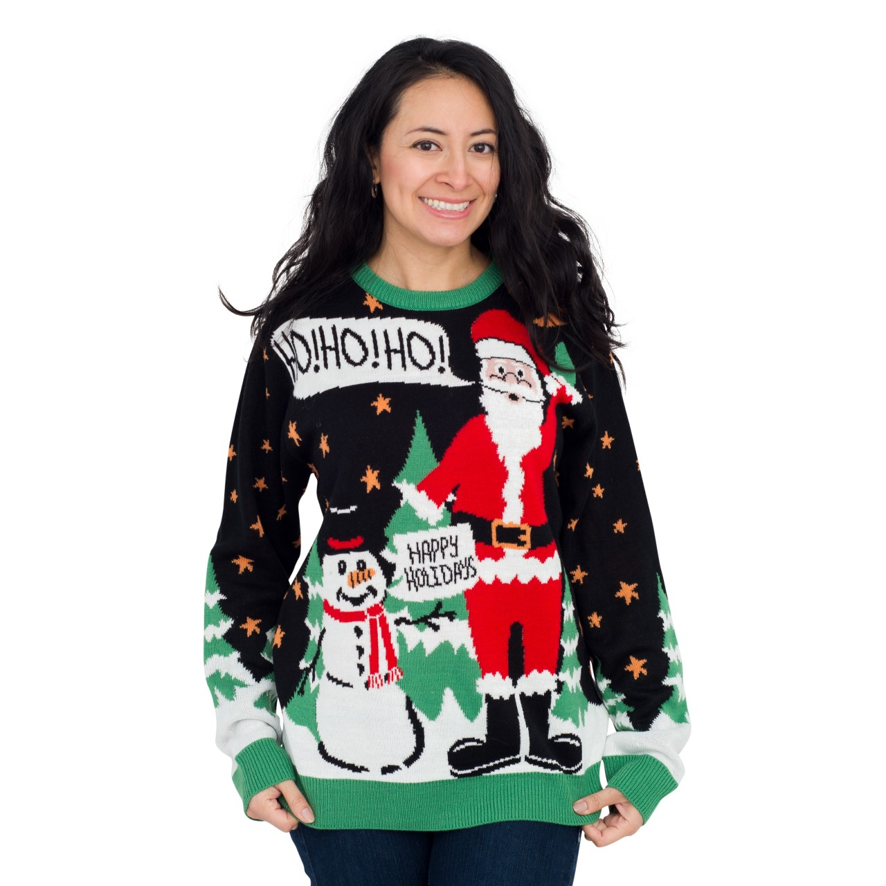 Womens Ho Ho Ho It's #!@%ING Merry Christmas,Ugly Christmas Sweaters | Funny Xmas Sweaters for Men and Women