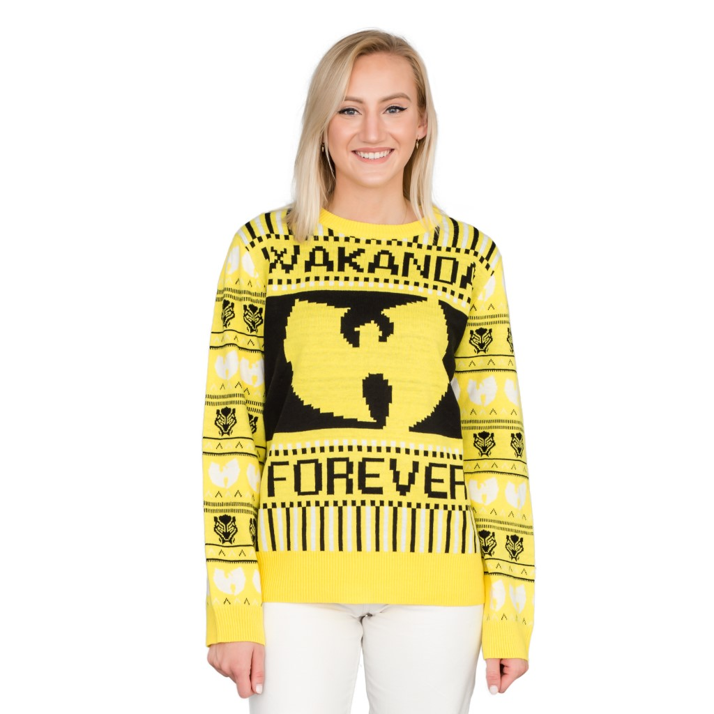 Women's Black Panther Wakanda Forever Ugly Christmas Sweater,Ugly Christmas Sweaters | Funny Xmas Sweaters for Men and Women