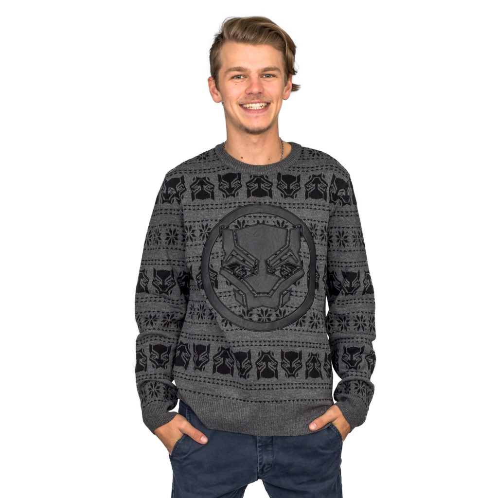 Black Panther Ugly Christmas Sweater,Ugly Christmas Sweaters | Funny Xmas Sweaters for Men and Women