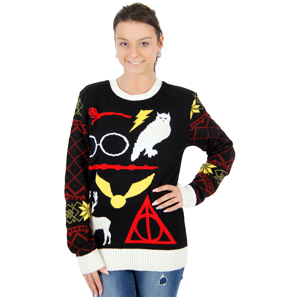 Women's Harry Potter Owl Deathly Hallows Sweater