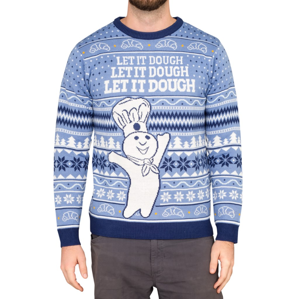 Let it Dough Ugly Sweater,Ugly Christmas Sweaters | Funny Xmas Sweaters for Men and Women