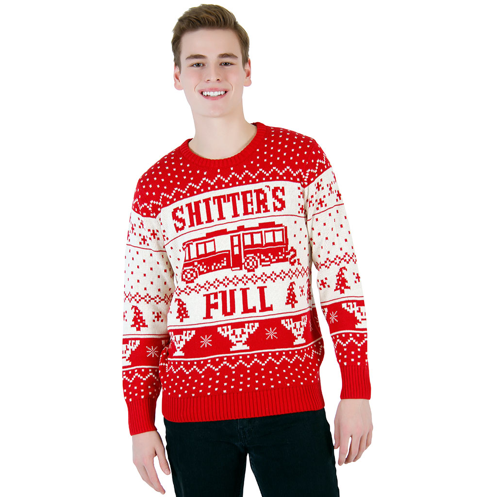 National Lampoon Vacation Shitter's Full Sweater,Ugly Christmas Sweaters | Funny Xmas Sweaters for Men and Women