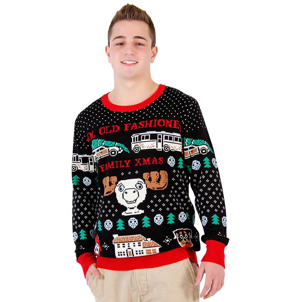 Christmas Vacation Fun Old Fashioned Family Sweater,Ugly Christmas Sweaters | Funny Xmas Sweaters for Men and Women