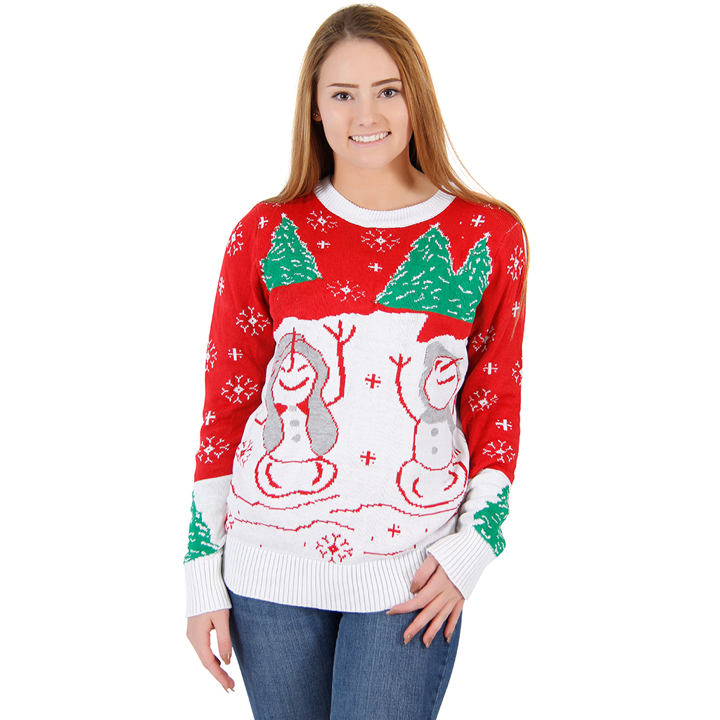 Women's Flashing Lights Ugly Sweater,Ugly Christmas Sweaters | Funny Xmas Sweaters for Men and Women