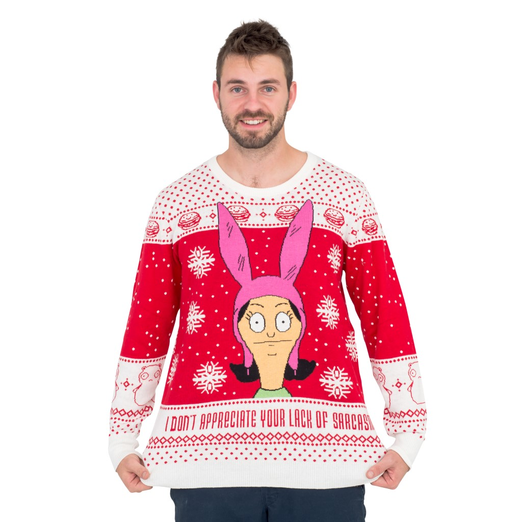 Bobs Burgers Louise Appreciate your Lack of Sarcasm Christmas Sweater,Ugly Christmas Sweaters | Funny Xmas Sweaters for Men and Women