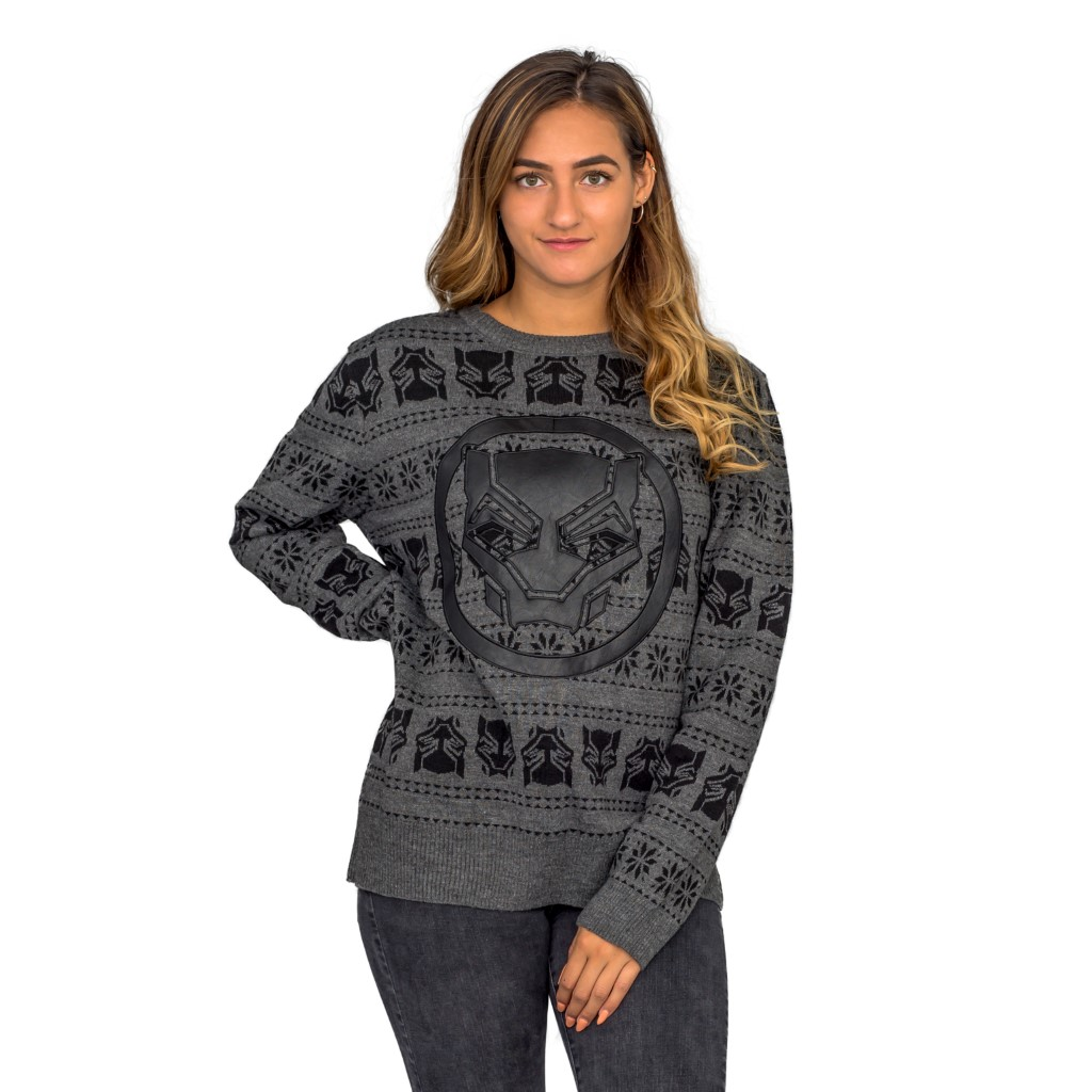 Women's Black Panther Ugly Christmas Sweater,Ugly Christmas Sweaters | Funny Xmas Sweaters for Men and Women
