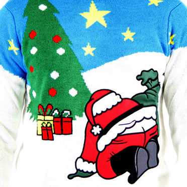 Santa's Butt Crack Sweater,Ugly Christmas Sweaters | Funny Xmas Sweaters for Men and Women