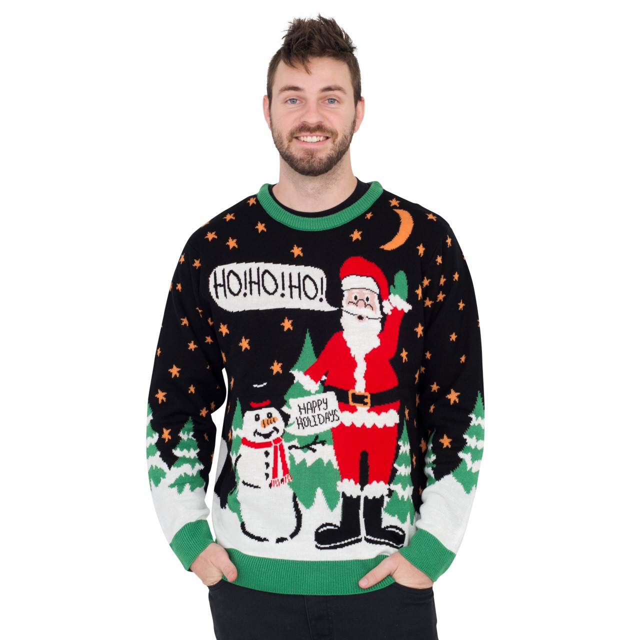 Ho Ho Ho It's #!@%ING Merry Christmas,Ugly Christmas Sweaters | Funny Xmas Sweaters for Men and Women