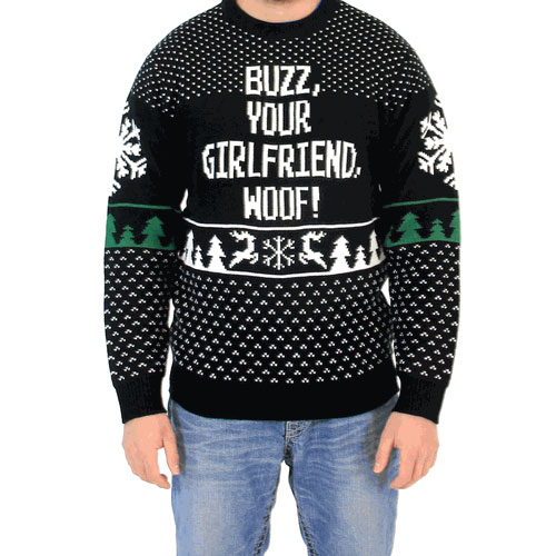 Buzz, Your Girlfriend, Woof! Sweater,Ugly Christmas Sweaters | Funny Xmas Sweaters for Men and Women