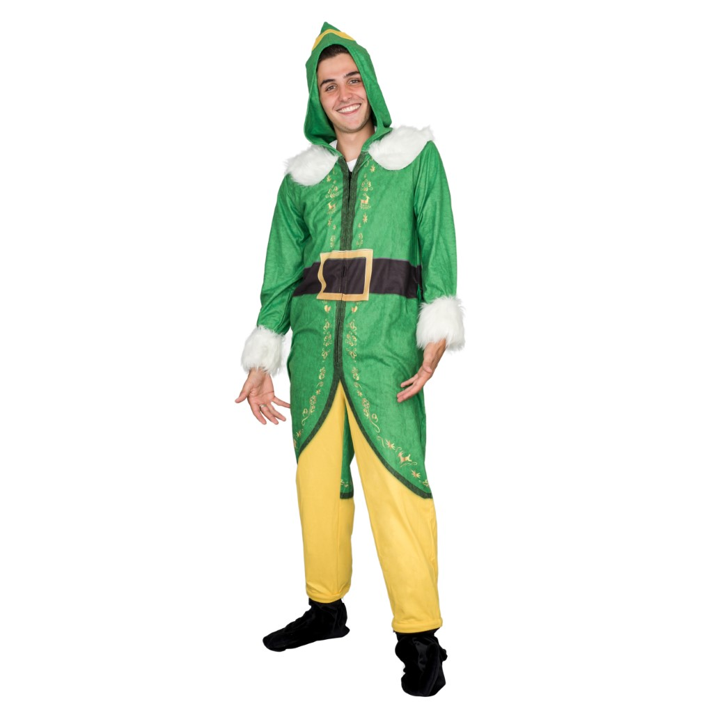 Buddy the Elf Costume Pajama Union Jumpsuit,Ugly Christmas Sweaters | Funny Xmas Sweaters for Men and Women