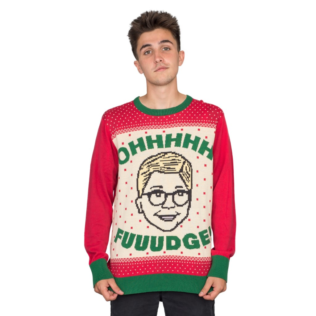 A Christmas Story OHHHH FUUUDGE! Ralphie Ugly Sweater,Ugly Christmas Sweaters | Funny Xmas Sweaters for Men and Women