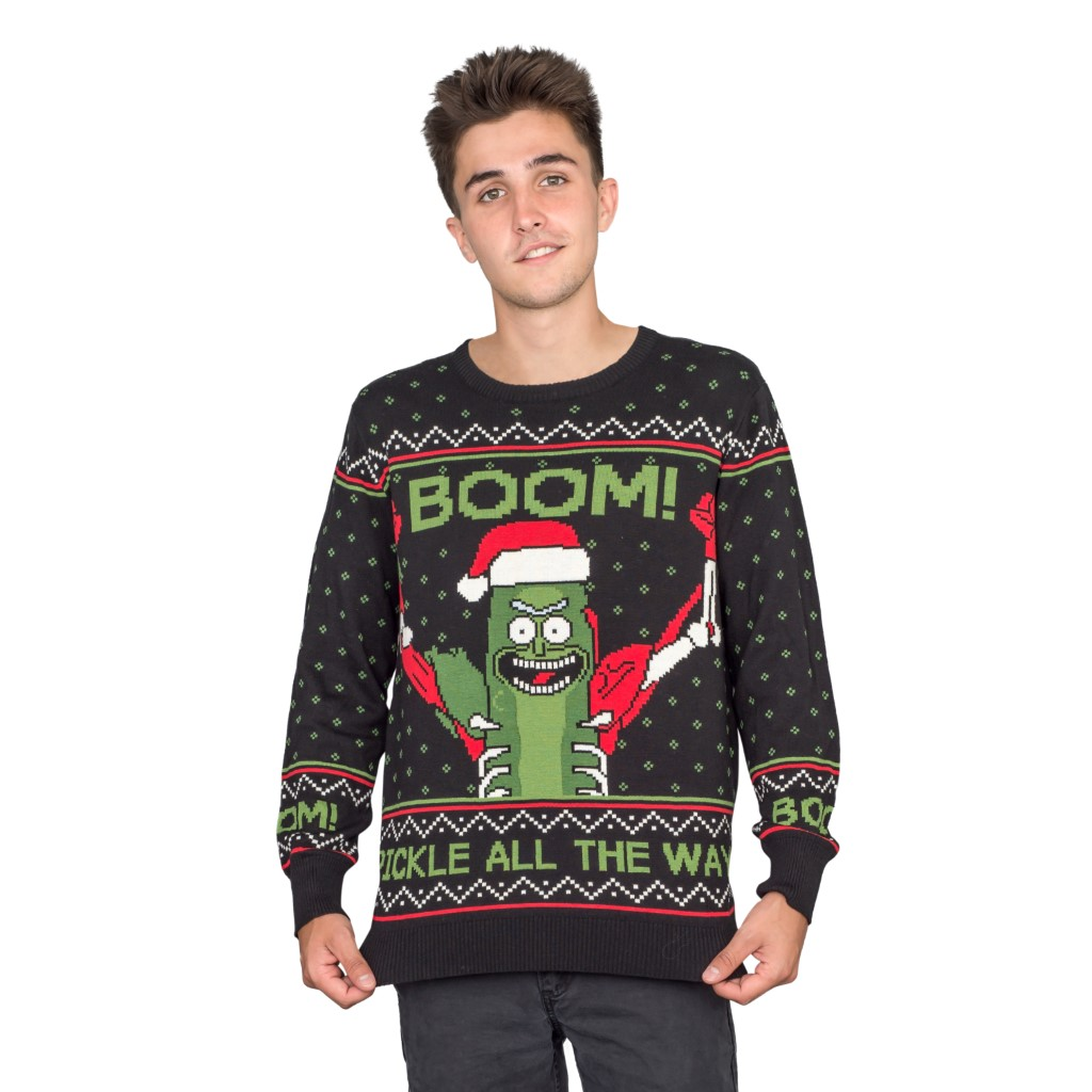 Rick and Morty Boom! PickleRick Ugly Christmas Sweater,Ugly Christmas Sweaters | Funny Xmas Sweaters for Men and Women