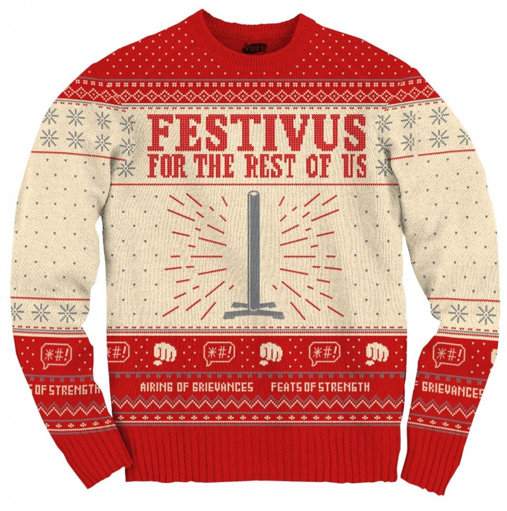 Seinfeld Festivus For The Rest Of Us Pole Sweater,Ugly Christmas Sweaters | Funny Xmas Sweaters for Men and Women