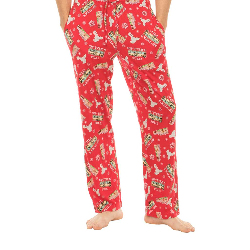Christmas Vacation Shitter's Full Red Lounge Pants,Ugly Christmas Sweaters | Funny Xmas Sweaters for Men and Women