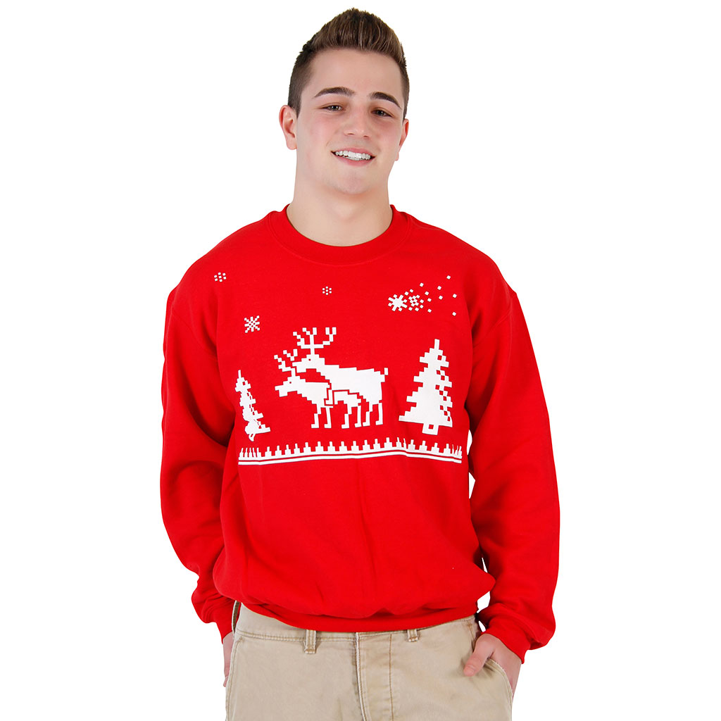 Humping Reindeer Sweatshirt,Ugly Christmas Sweaters | Funny Xmas Sweaters for Men and Women