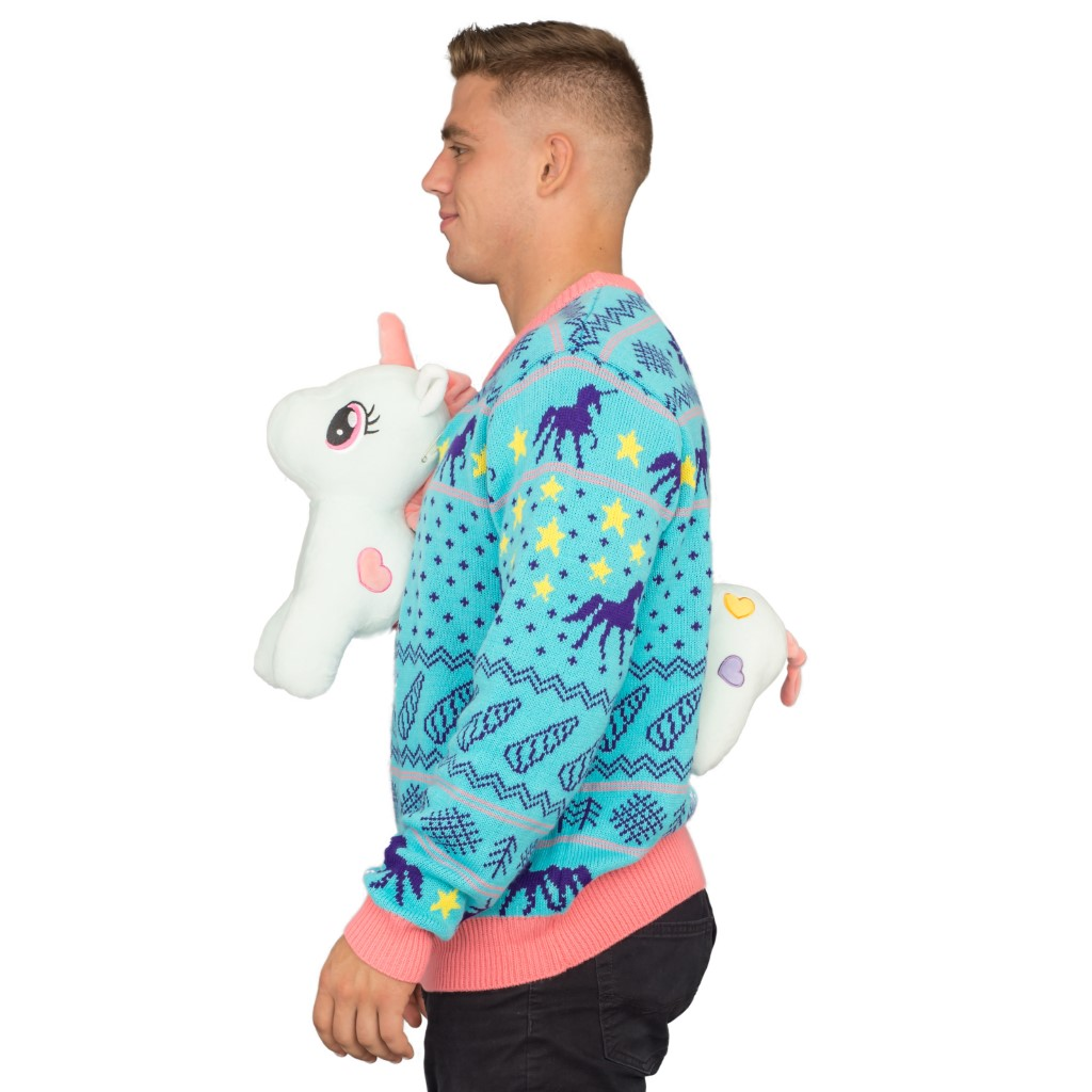 3D Unicorn Ugly Christmas Sweater,Ugly Christmas Sweaters | Funny Xmas Sweaters for Men and Women