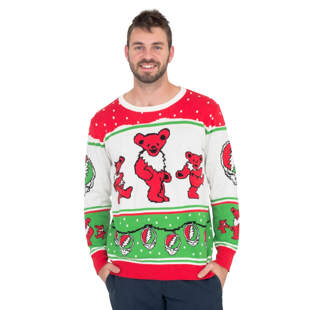 Classic Grateful Dead Dancing Bears Ugly Christmas Sweater,Ugly Christmas Sweaters | Funny Xmas Sweaters for Men and Women