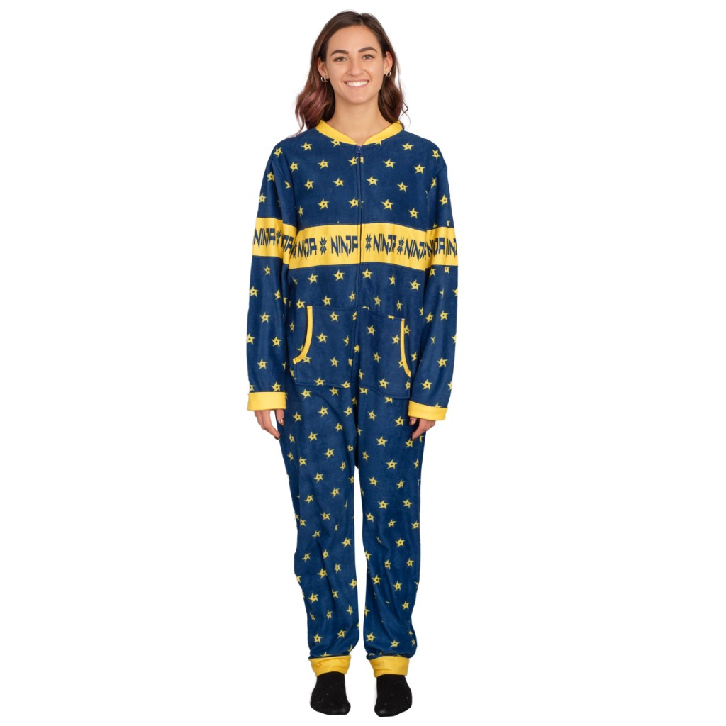 Women's Fortnite Ninja Shurikens Christmas Pattern Jumpsuit,Ugly Christmas Sweaters | Funny Xmas Sweaters for Men and Women