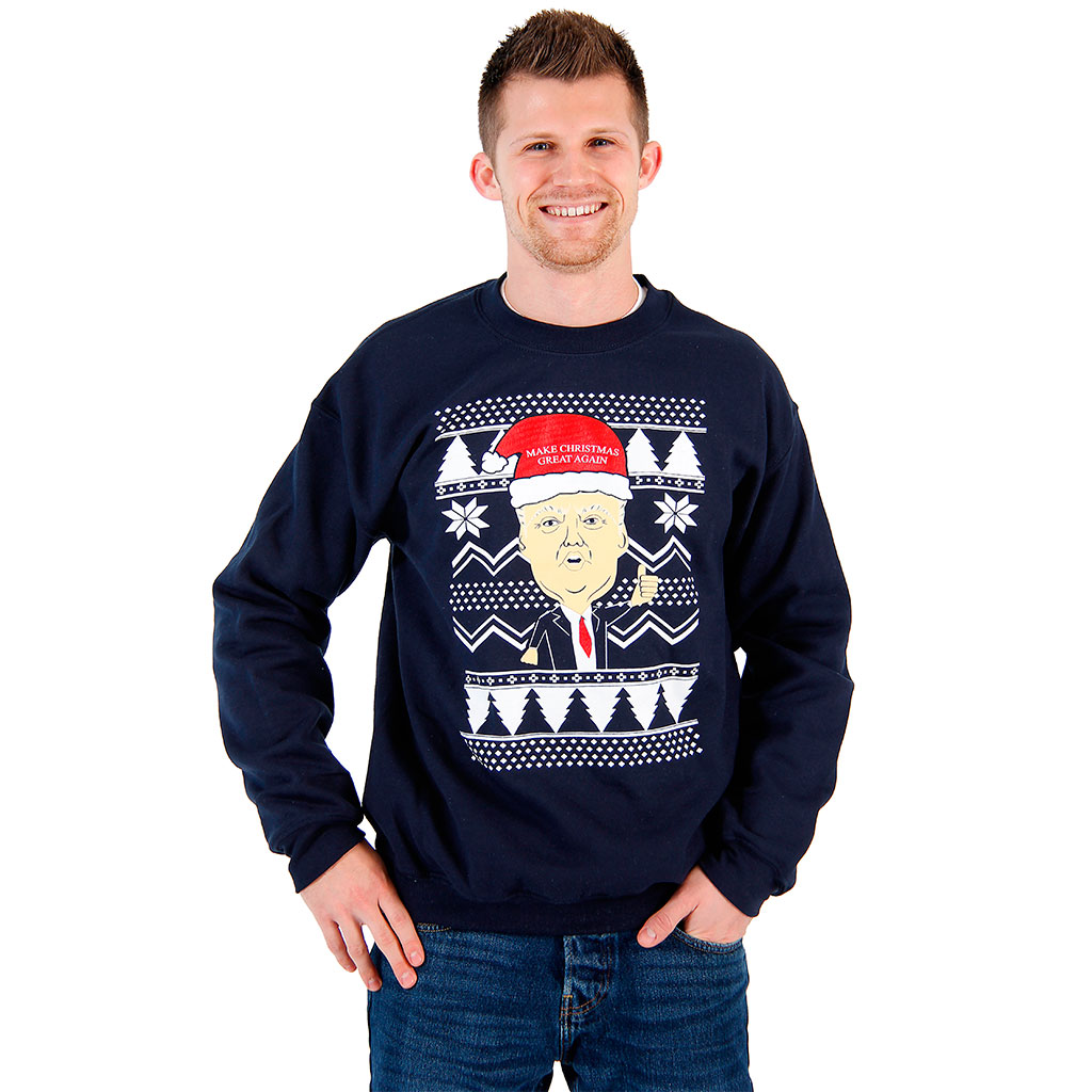 Donald Trump Make Christmas Great Again Ugly Sweatshirt,Ugly Christmas Sweaters | Funny Xmas Sweaters for Men and Women