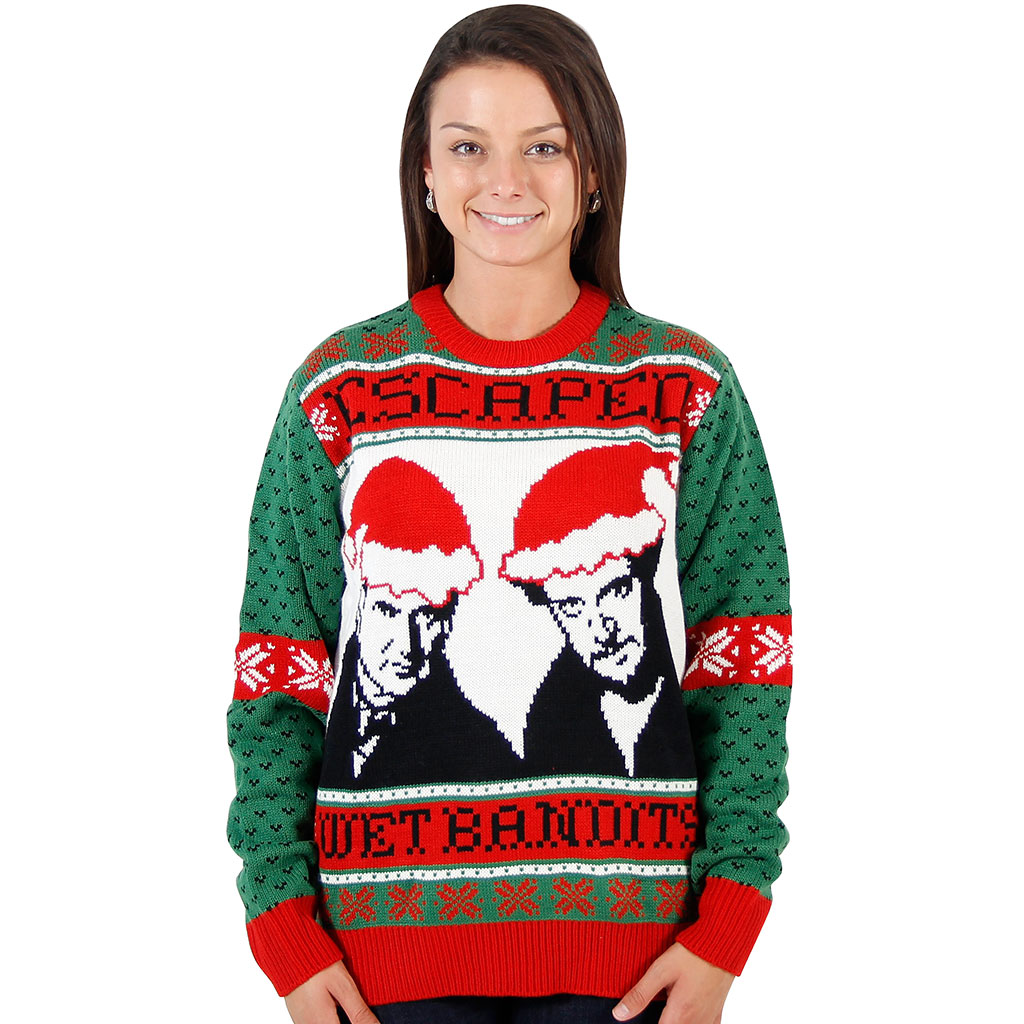 Women's Home Alone Wet Bandits Ugly Christmas Sweater,Ugly Christmas Sweaters | Funny Xmas Sweaters for Men and Women