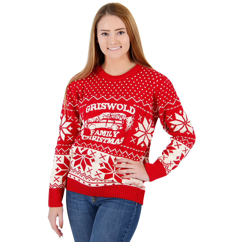 Women's National Lampoon Griswold Family Christmas Sweater,Ugly Christmas Sweaters | Funny Xmas Sweaters for Men and Women