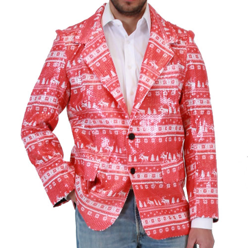 Sequin Humping Reindeer Blazer Jacket,Ugly Christmas Sweaters | Funny Xmas Sweaters for Men and Women