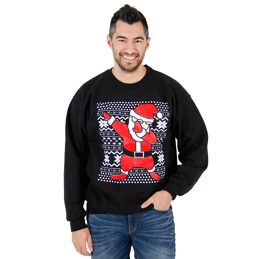 Dabbin' Santa Ugly Christmas Sweatshirt,Ugly Christmas Sweaters | Funny Xmas Sweaters for Men and Women