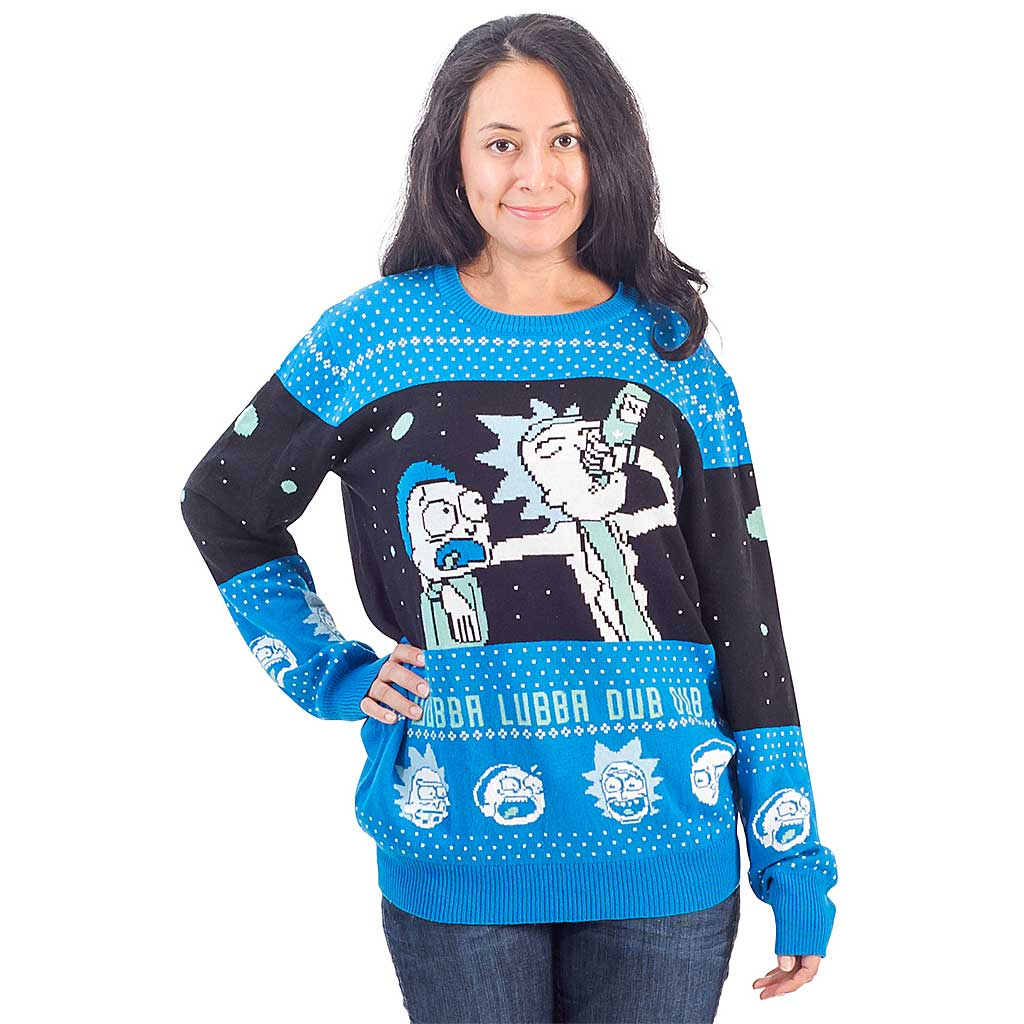 Women's Wubba Lubba Dub Dub – Rick and Morty Christmas Sweater,Ugly Christmas Sweaters | Funny Xmas Sweaters for Men and Women