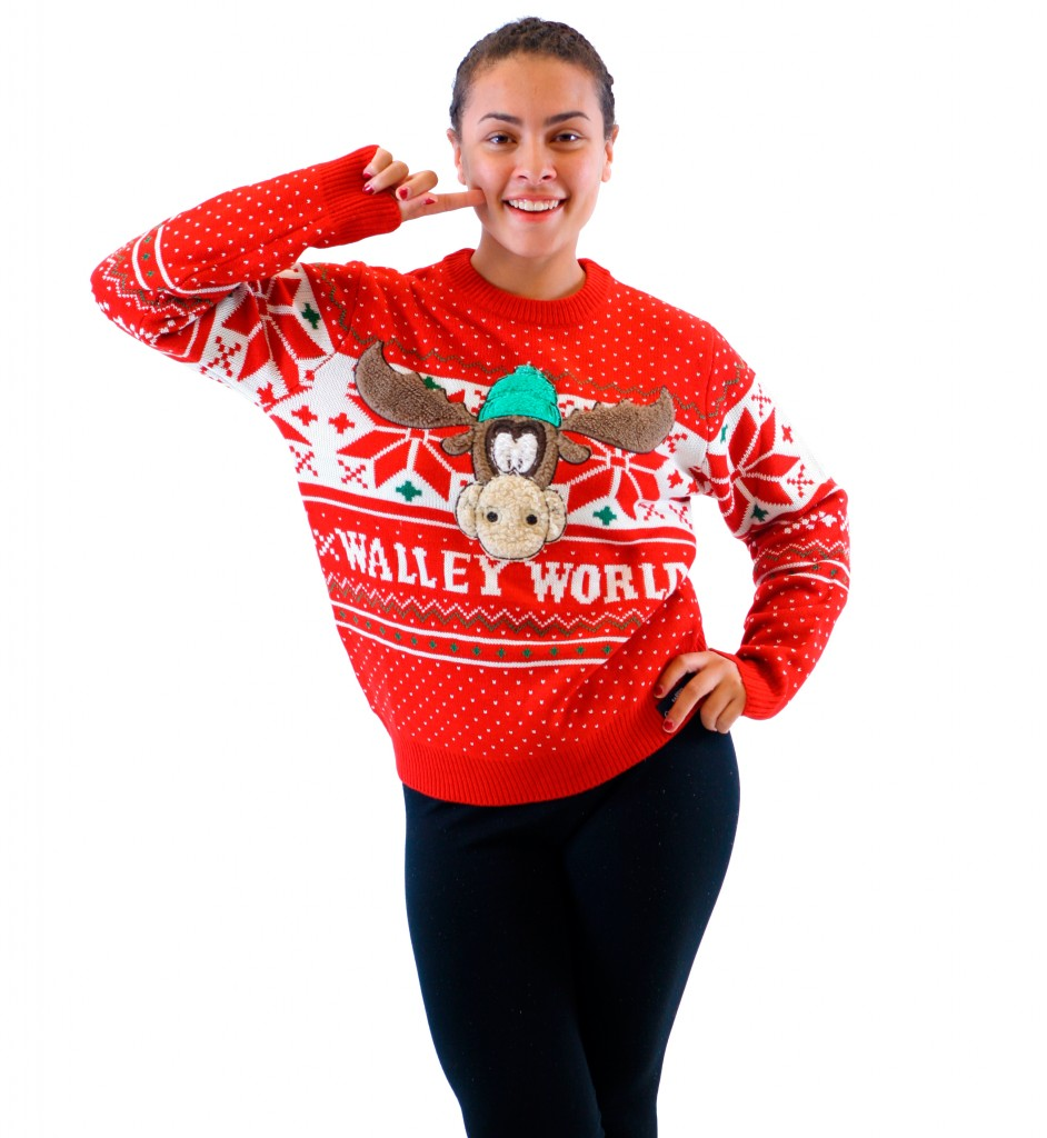 Women's Christmas Vacation Marty Moose Walley World Sweater,Ugly Christmas Sweaters | Funny Xmas Sweaters for Men and Women