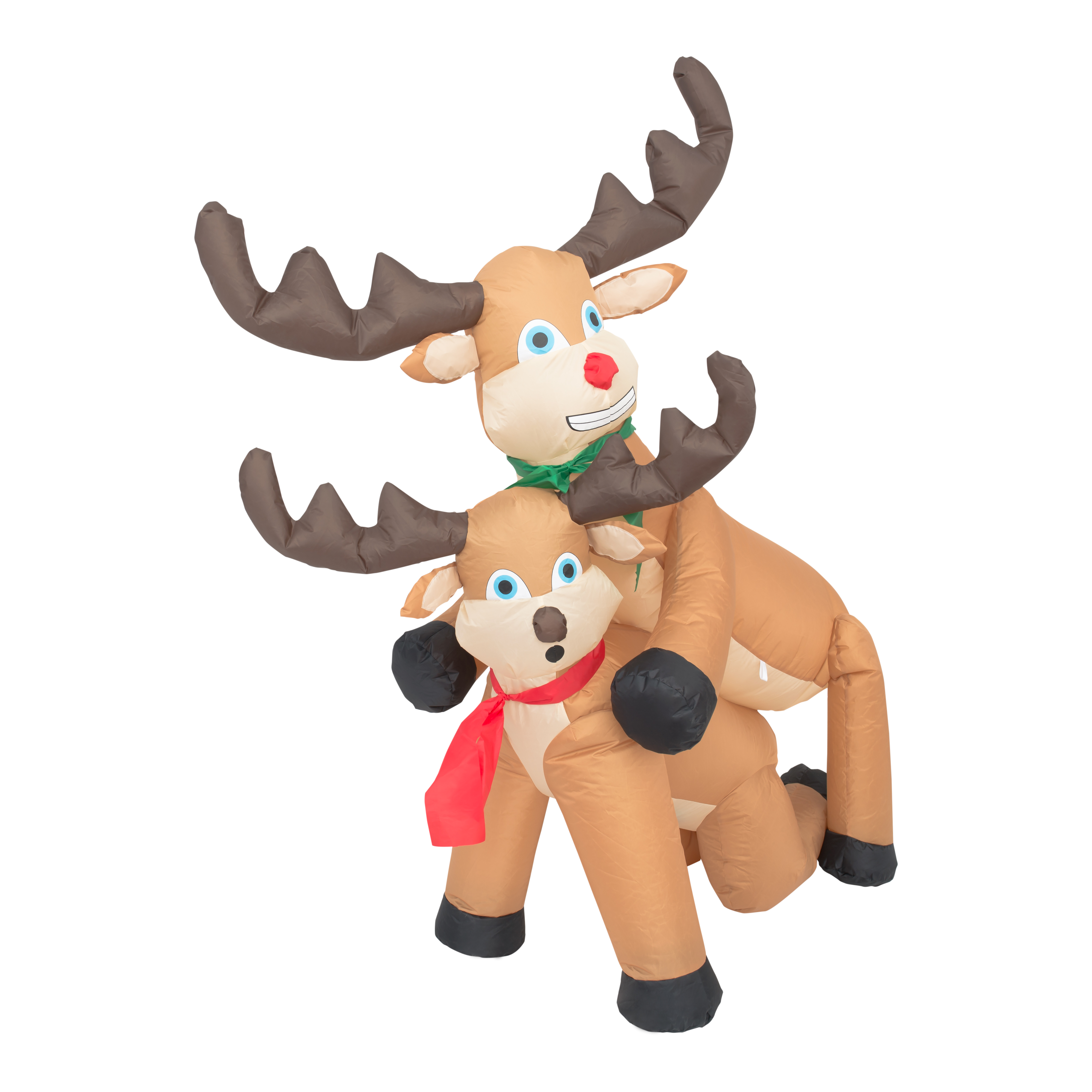 Funny Humping Reindeer Christmas Lawn Inflatable Decoration,Ugly Christmas Sweaters | Funny Xmas Sweaters for Men and Women