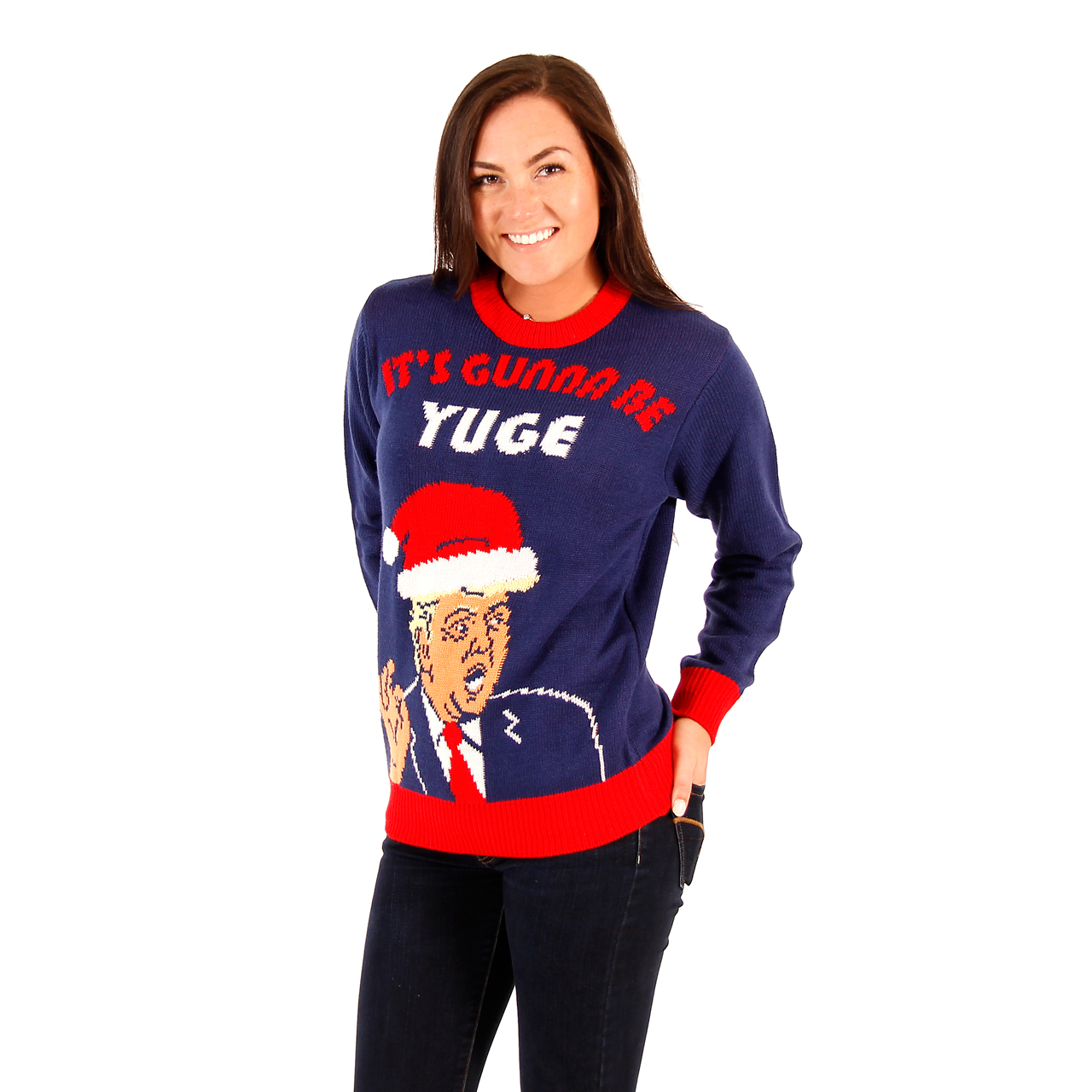 Women's Donald Trump It's Gunna Be Yuge Christmas Sweater