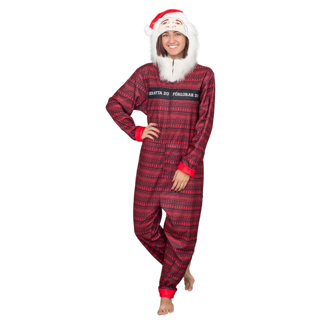 Women's PewDiePie Ugly Christmas Jumpsuit,Ugly Christmas Sweaters | Funny Xmas Sweaters for Men and Women