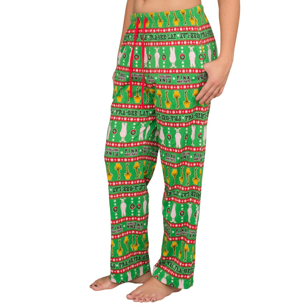 A Christmas Story Major Award Leg Lamp Pink Nightmare Lounge Pants,Ugly Christmas Sweaters | Funny Xmas Sweaters for Men and Women