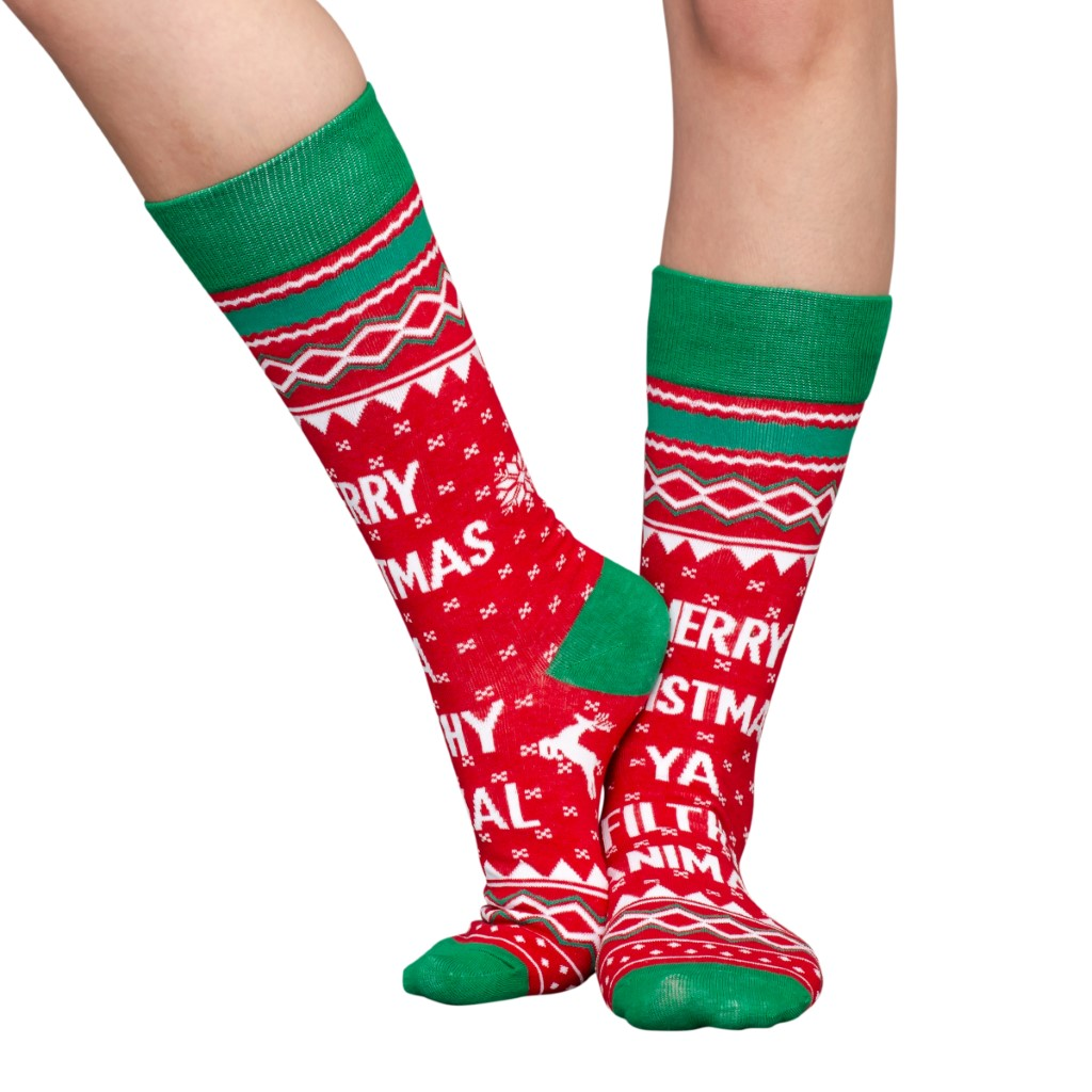 Home Alone Filthy Animal Ugly Christmas Socks – Adult