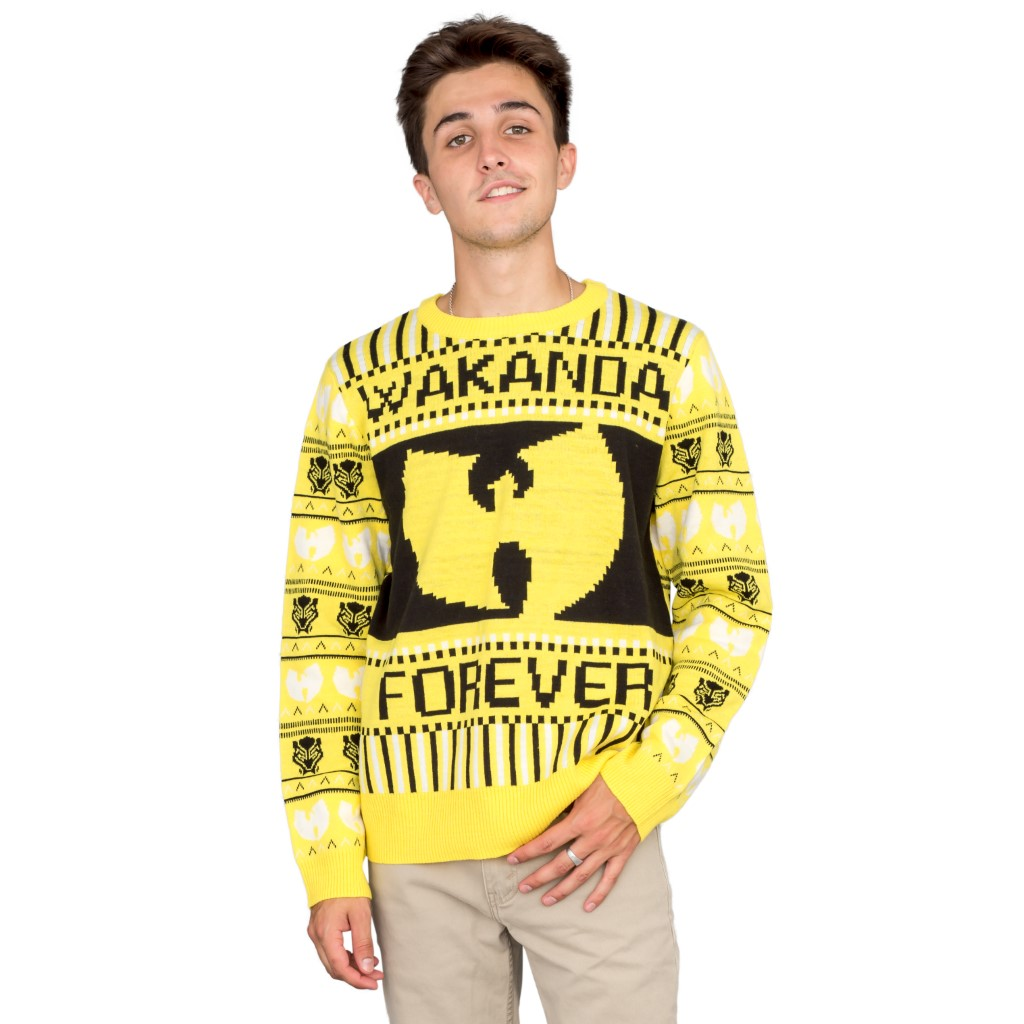 Black Panther Wakanda Forever Ugly Christmas Sweater,Ugly Christmas Sweaters | Funny Xmas Sweaters for Men and Women