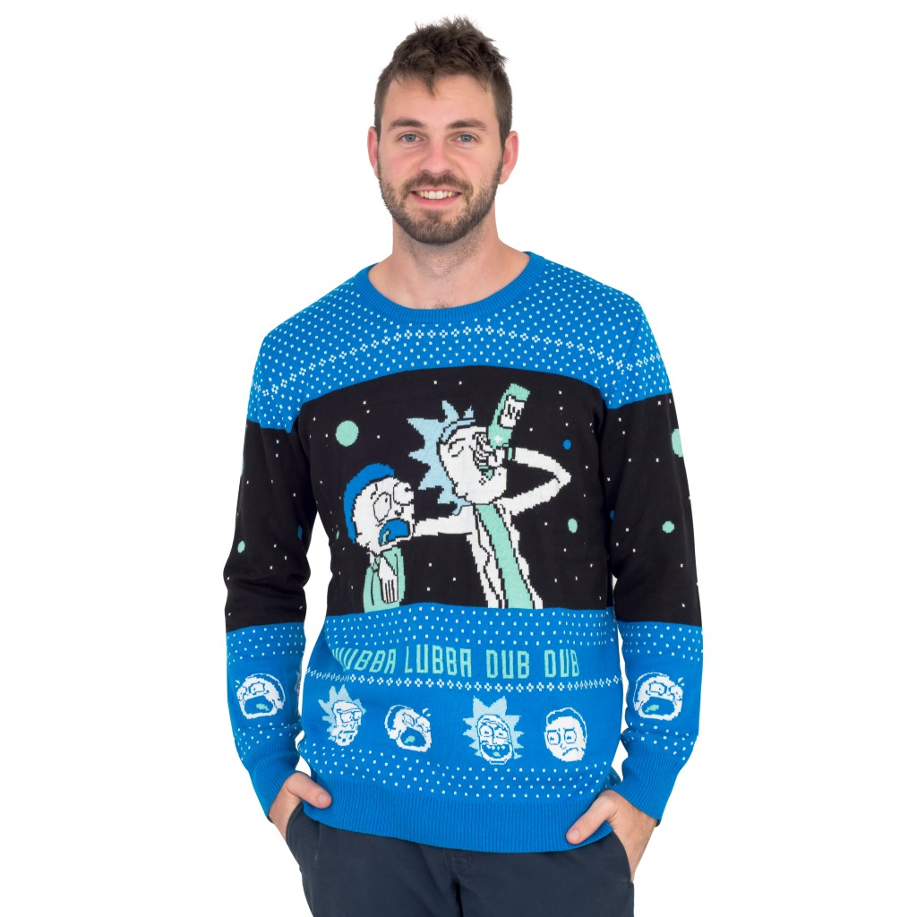 Wubba Lubba Dub Dub – Rick and Morty Christmas Sweater,Ugly Christmas Sweaters | Funny Xmas Sweaters for Men and Women