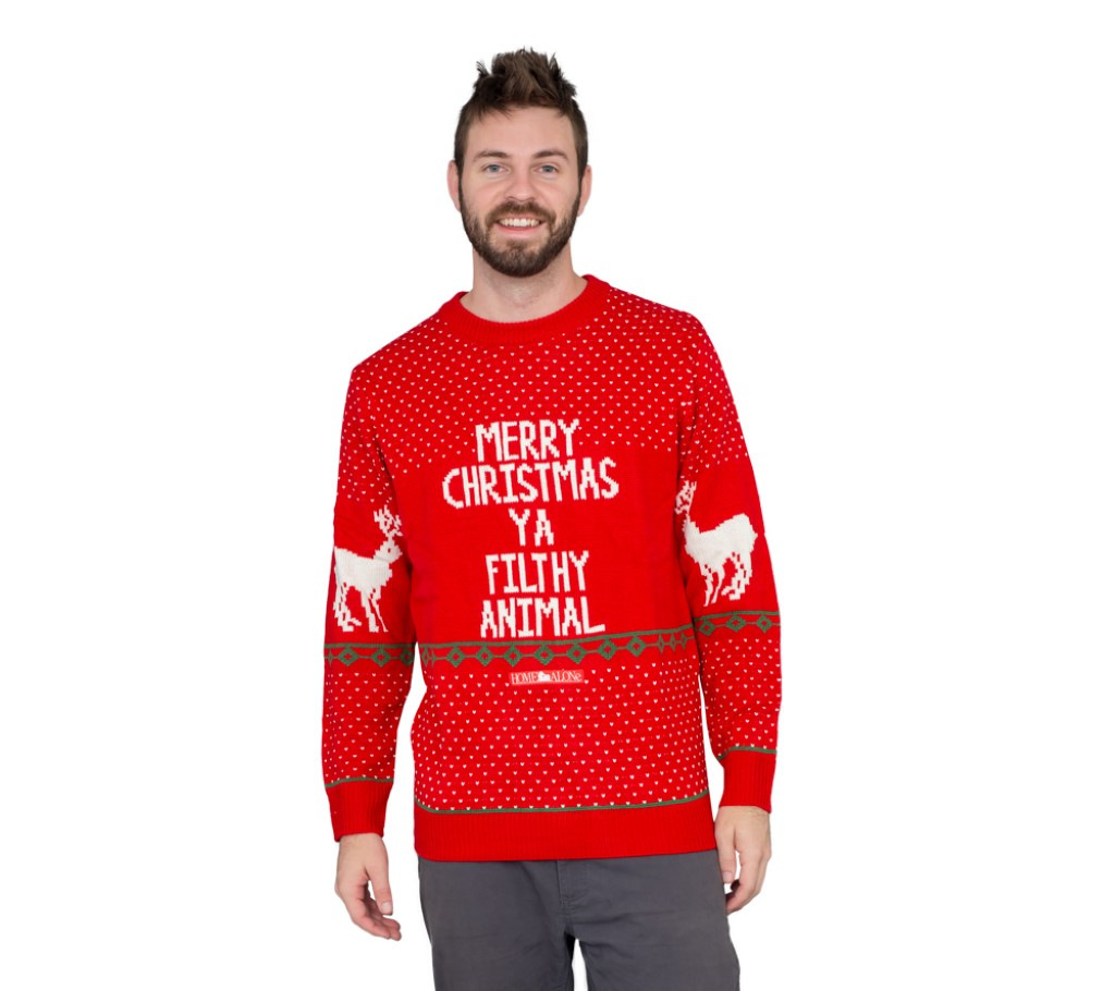 Red Filthy Animal Sweater,Ugly Christmas Sweaters | Funny Xmas Sweaters for Men and Women
