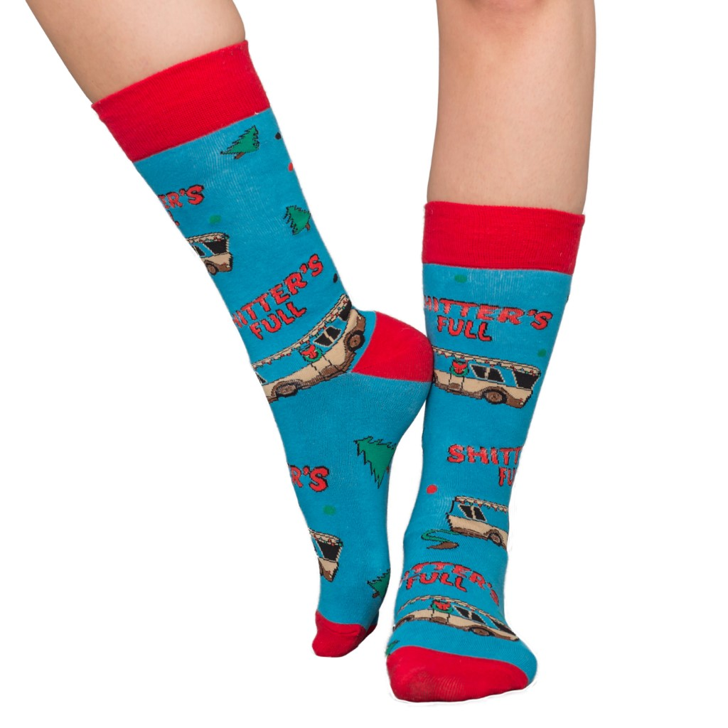 National Lampoon's Vacation Shitter's Full Ugly Christmas Socks,Ugly Christmas Sweaters | Funny Xmas Sweaters for Men and Women