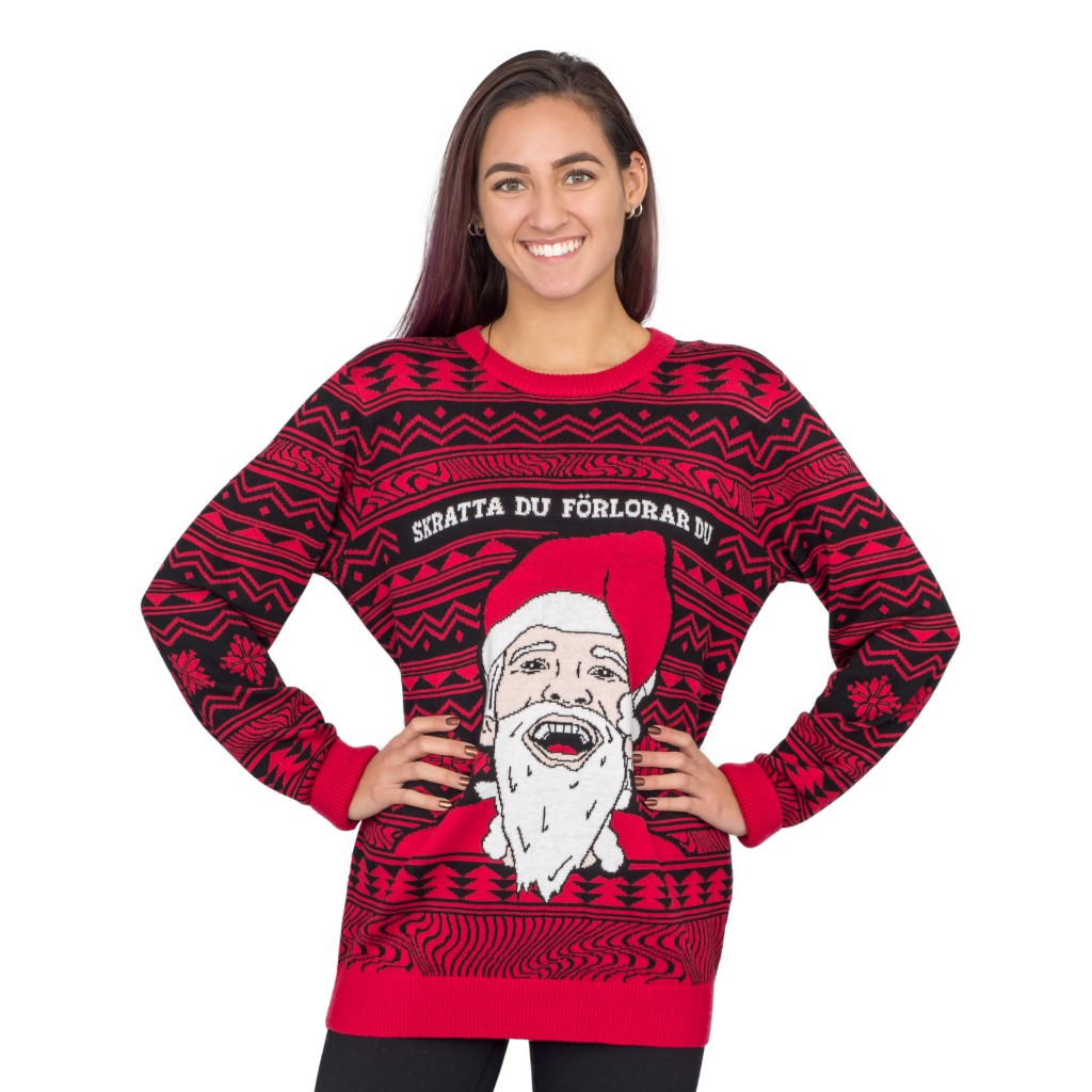 Women's PewDiePie Ugly Christmas Sweater,Ugly Christmas Sweaters | Funny Xmas Sweaters for Men and Women